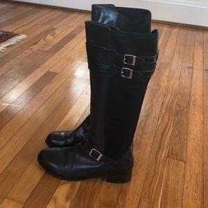 Cole Haan black riding boots